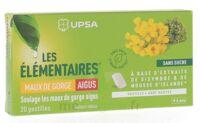 Les Elémentaires Sans Sucre Pastilles Maux De Gorge Aigus Menthe B/20 à ROSIÈRES