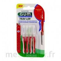 Gum Trav - Ler, 0,8 Mm, Manche Rouge , Blister 4 à ROSIÈRES