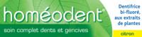Boiron Homéodent Soin Complet Dents Et Gencives Pâte Dentifrice Citron 2t/75ml à ROSIÈRES
